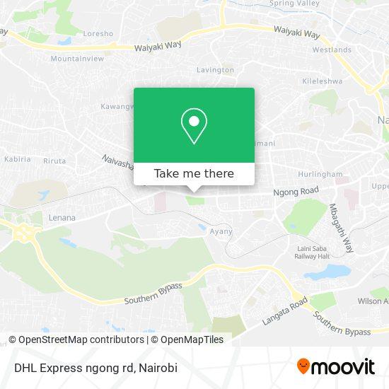 DHL Express ngong rd map