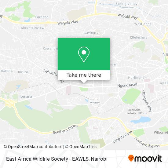 East Africa Wildlife Society - EAWLS map