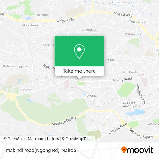 makindi road(Ngong Rd) map