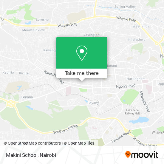 Makini School map