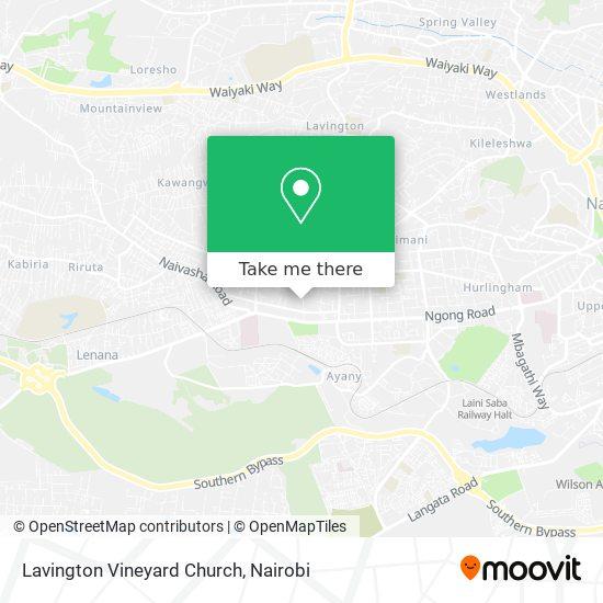 Lavington Vineyard Church map