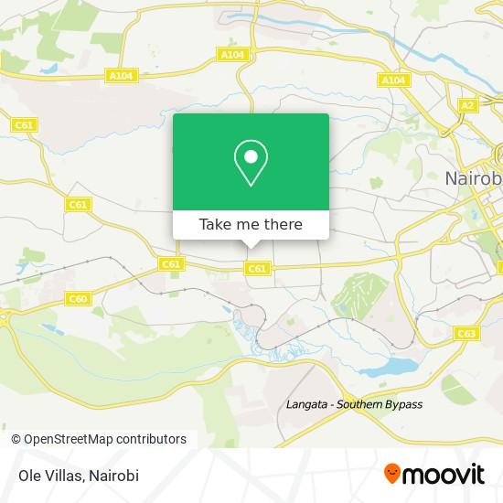 Ole Villas map
