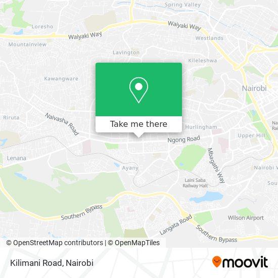 Kilimani Road map