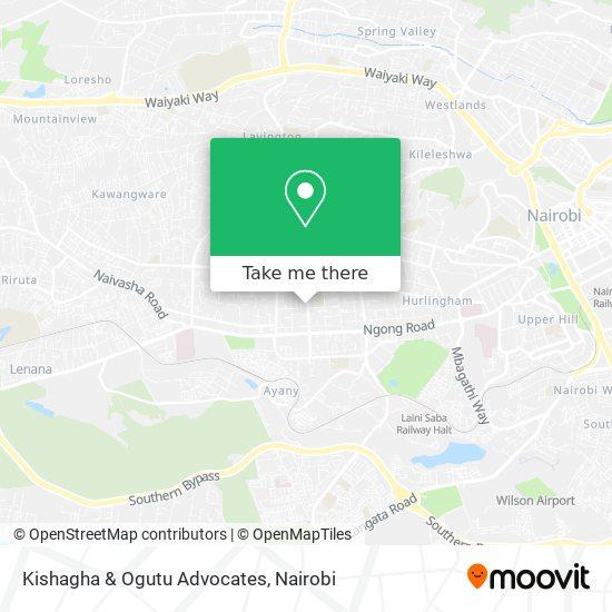 Kishagha & Ogutu Advocates map