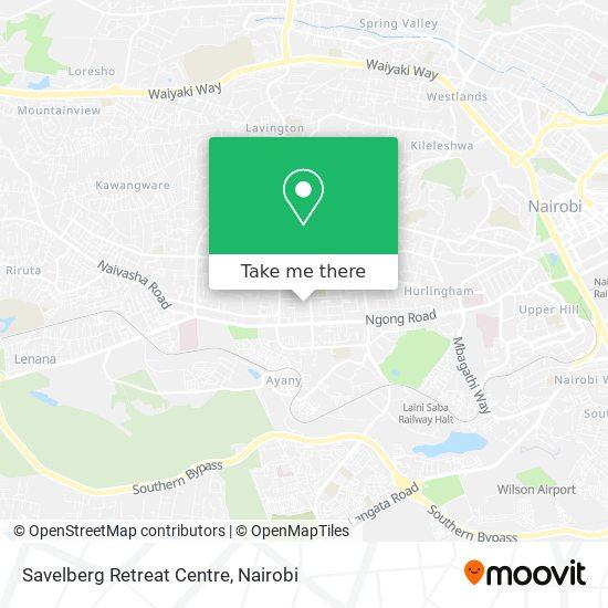 Savelberg Retreat Centre map