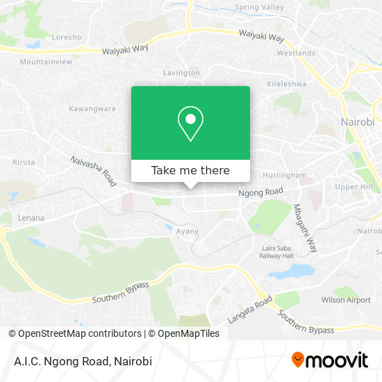 A.I.C. Ngong Road map