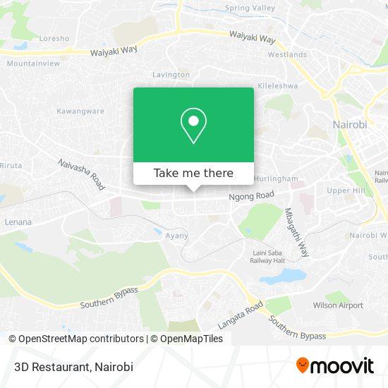 3D Restaurant map