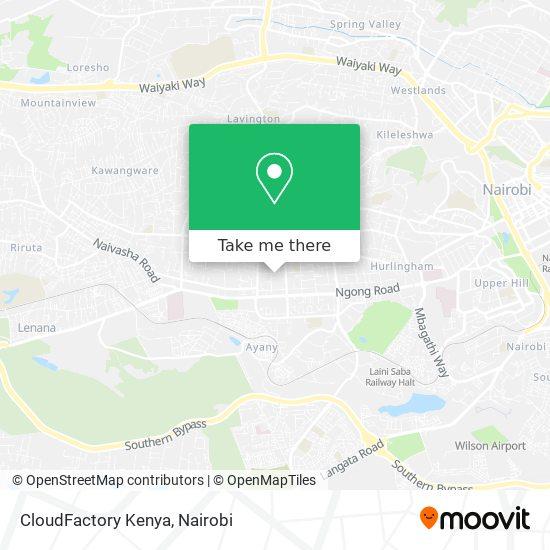 CloudFactory Kenya map