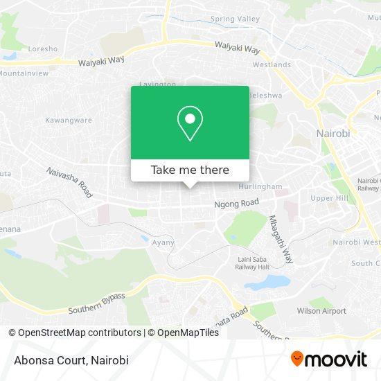 Abonsa Court map