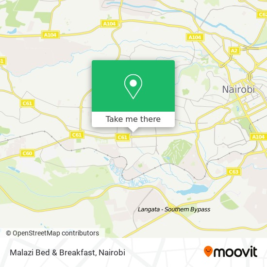 Malazi Bed & Breakfast map