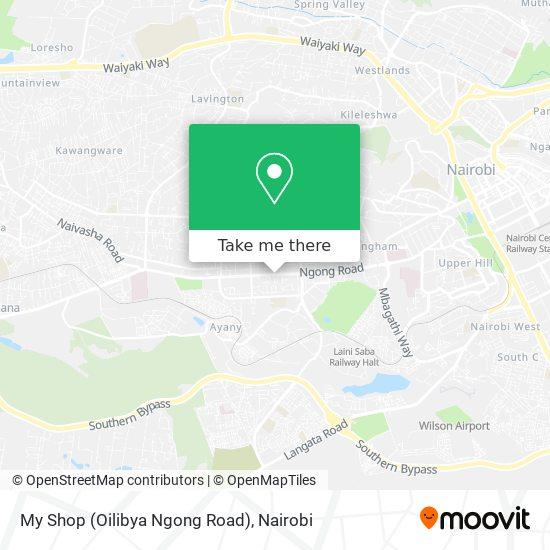 My Shop (Oilibya Ngong Road) map