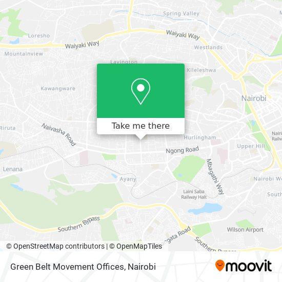 Green Belt Movement Offices map