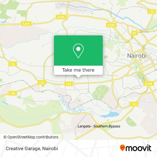 Creative Garage map