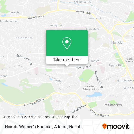 Nairobi Women's Hospital, Adam's map