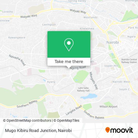 Mugo Kibiru Road Junction map