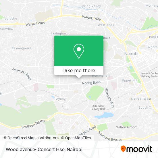Wood avenue- Concert Hse map