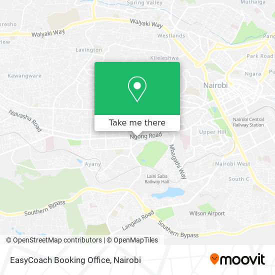 EasyCoach Booking Office map
