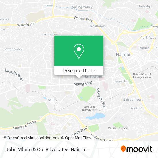 John Mburu & Co. Advocates map