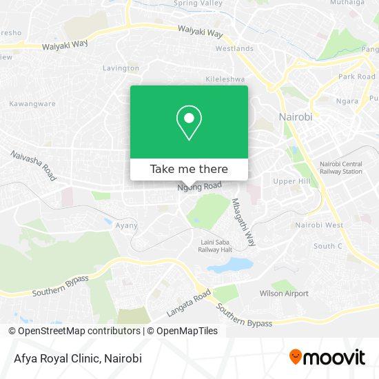 Afya Royal Clinic map