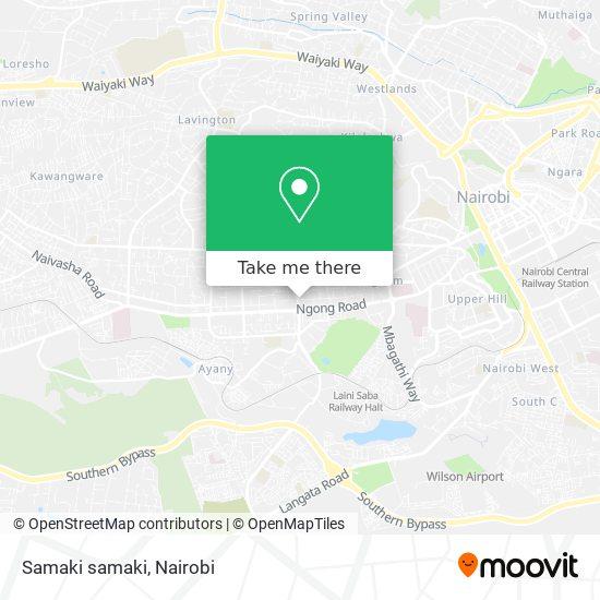 Samaki samaki map