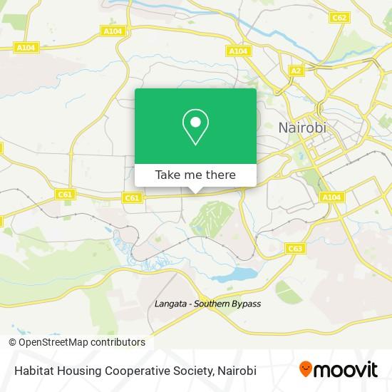 Habitat Housing Cooperative Society map