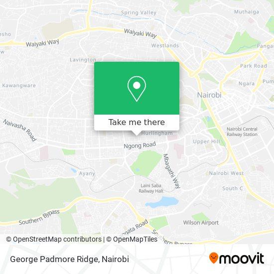 George Padmore Ridge map