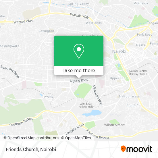 Friends Church map