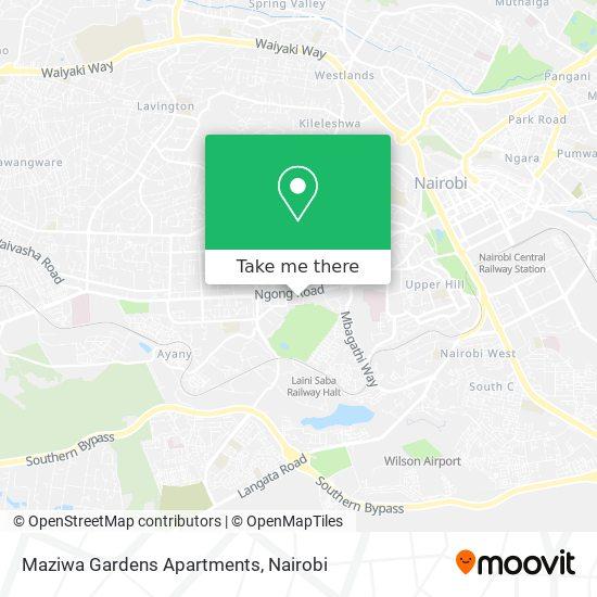 Maziwa Gardens Apartments map