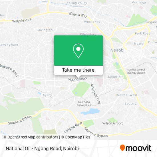 National Oil - Ngong Road map