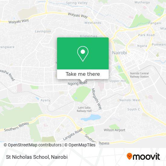 St Nicholas School map