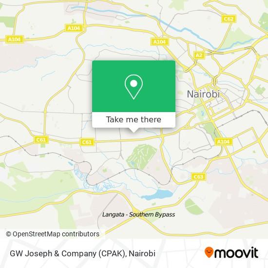 GW Joseph & Company (CPAK) map