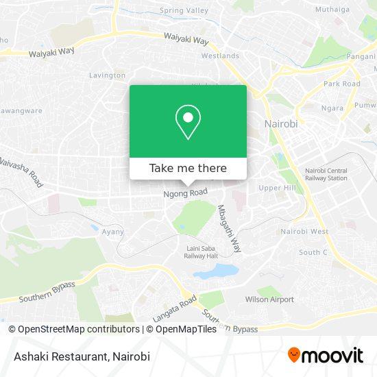 Ashaki Restaurant map