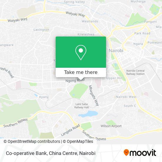 Co-operative Bank, China Centre map