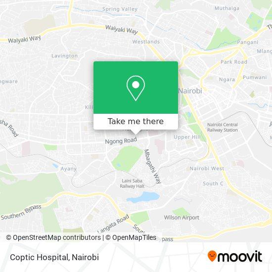 Coptic Hospital map