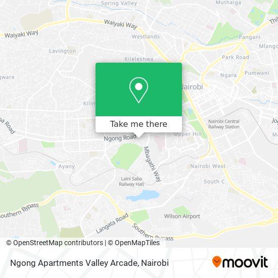 Ngong Apartments Valley Arcade map