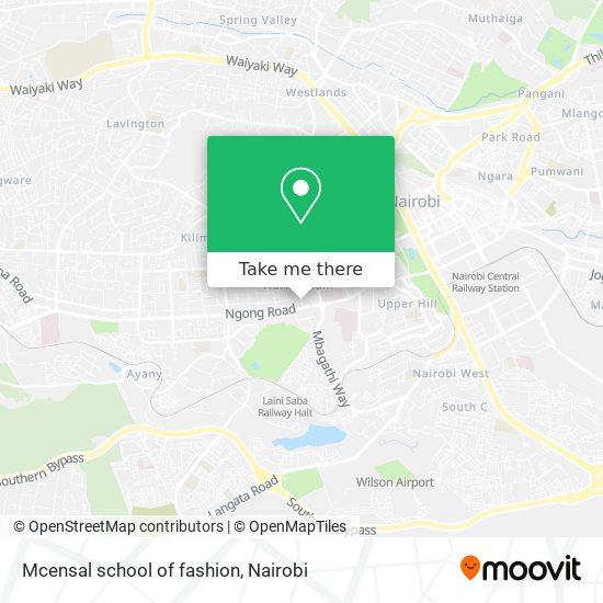 Mcensal school of fashion map