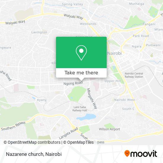 Nazarene church map