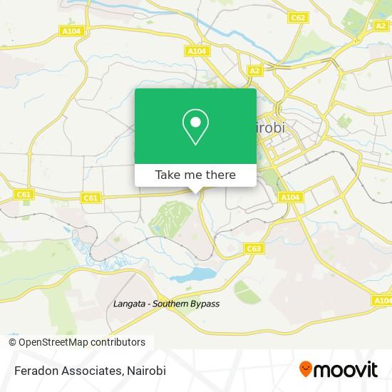 Feradon Associates map