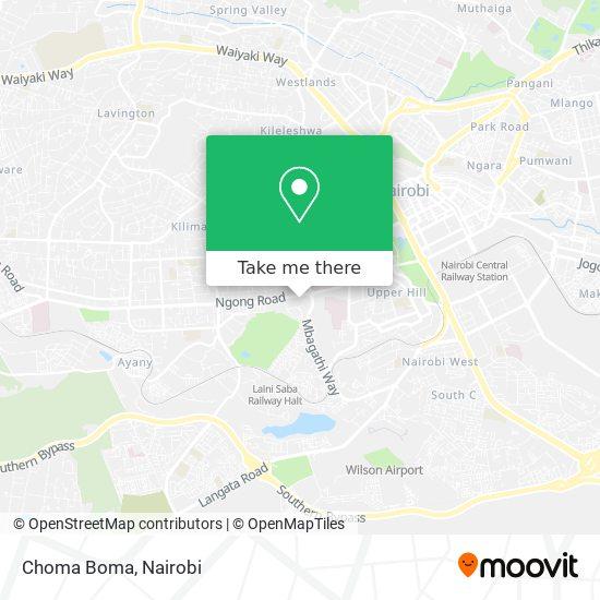 Choma Boma map