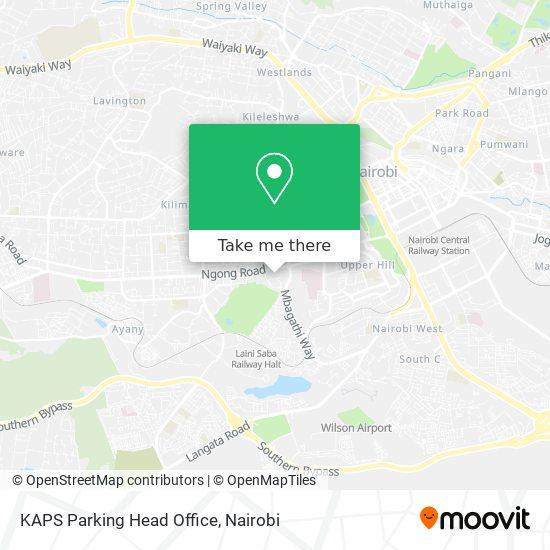KAPS Parking Head Office map