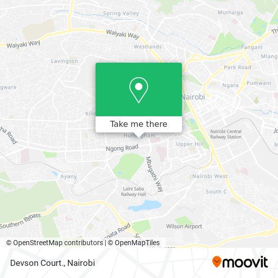Devson Court. map
