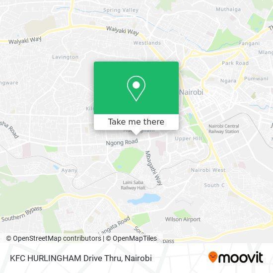 KFC HURLINGHAM Drive Thru map