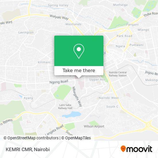 KEMRI CMR map