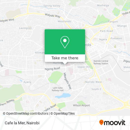 Cafe la Mer map