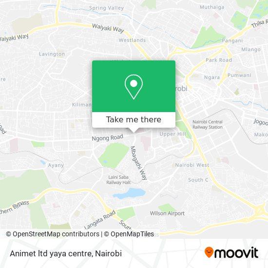 Animet ltd yaya centre map