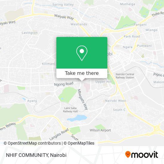 NHIF COMMUNITY map