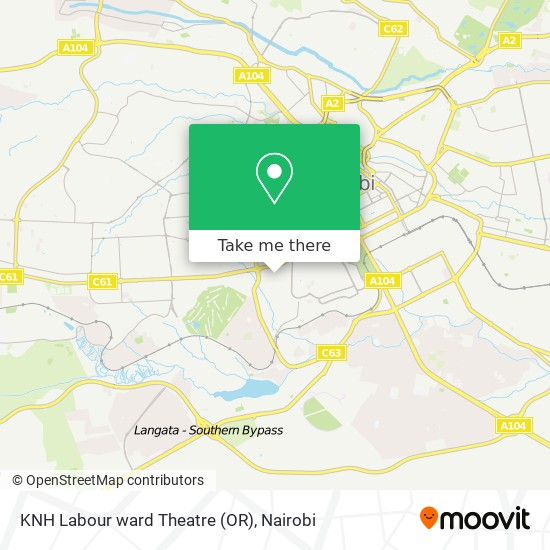 KNH Labour ward Theatre (OR) map