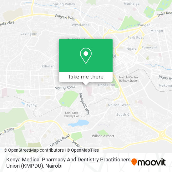 Kenya Medical Pharmacy And Dentistry Practitioners Union (KMPDU) map