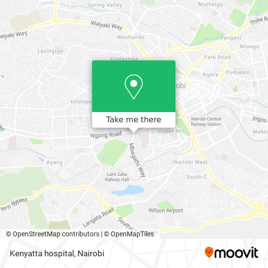 Kenyatta hospital map