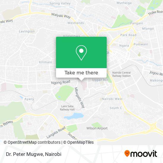 Dr. Peter Mugwe map